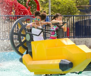 Get in the driver's seat with these super cool Aquazone Wave Racers. Photo courtesy of Legoland Florida