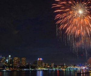 See Philly 4th of July fireworks burst over the river. Photo by L.Berckey for VISIT PHILADELPHIA