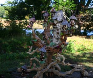 Visit the Wee Faerie Village throughout the month of October. Photo courtesy of  the Florence Griswold Museum