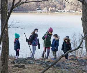 Embark on a family-friendly fall day trip and explore a hiking trail in New Jersey, on Long Island, or in the Hudson Valley. Photo by Matt Nighswander