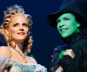 Glinda and Elphaba in Wicked on Broadway
