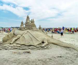 Gaze at the amazing creations at the Wildwood Crest Amateur Sand Sculpting Festival. Photo courtesy of the festival