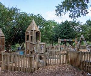 Wills Park Playground consists of slides, monkey bars, bridges, towers and swings Atlanta Playground
