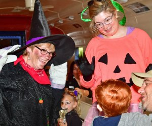 Have no fear: Those are friendly witches aboard Wilmington & Western Railroad's Halloween Express. Photo by Mike Ciosek