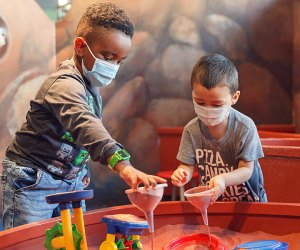 Kids can get their hands dirty at the Brooklyn Children's Museum during a play session, but be sure to book your spot in advance. Photo by Winston Willams/courtesy BCM