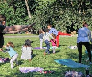 Sunday Funday yoga. Photo courtesy of Awbury Arboretum