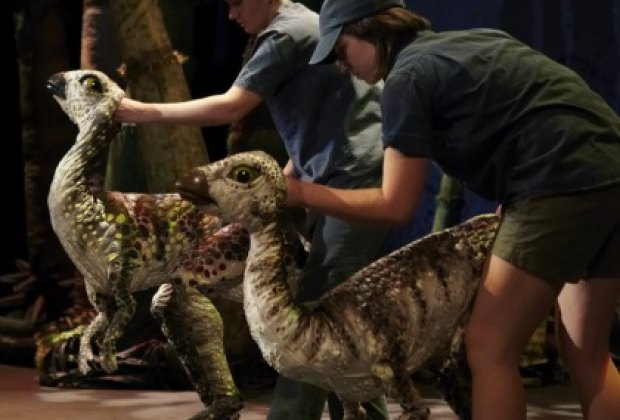 These dinos look so realistic, you end up forgetting that they're puppets; photo by Susannah Wimberley