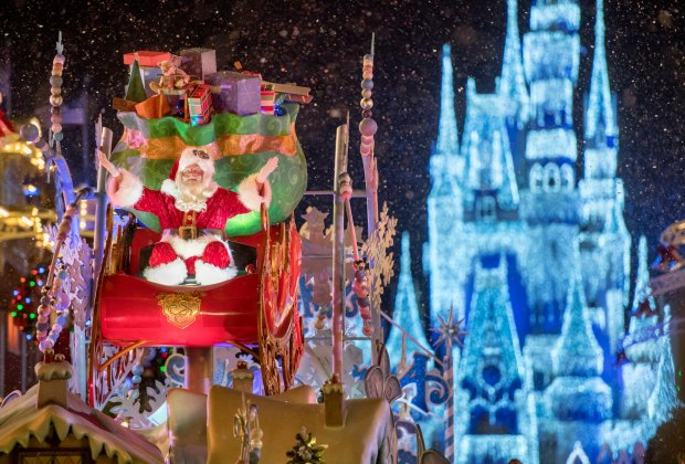 Thrill to Santa at the Magic Kingdom. Photo by Kent Phillips/Disney