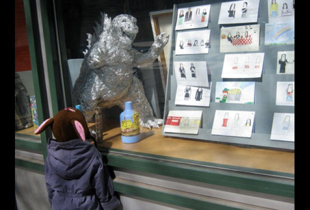 The LAND (League Artists Natural Design) gallery window