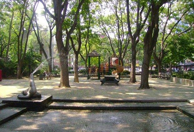 Seal Park's shady playground