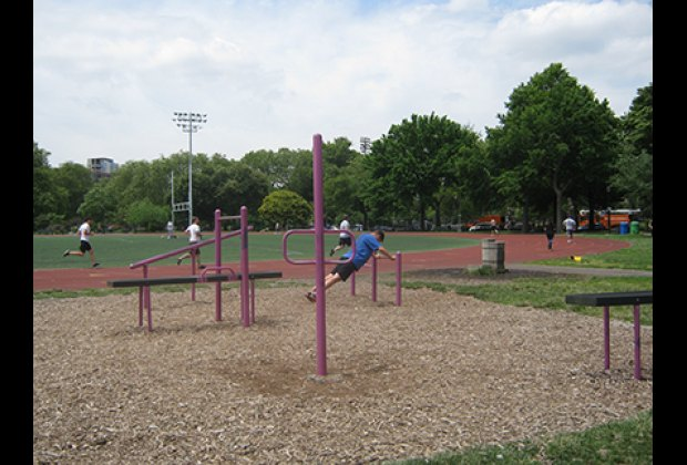 Fitness equipment and running track