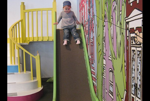 Romping in PLAY Greenpoint's funky indoor play space
