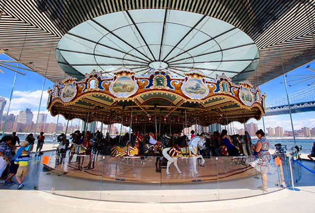 Go for a spin at Jane's Carousel.