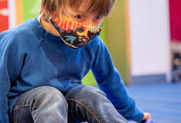 DuPage Children's Museum: child scooting