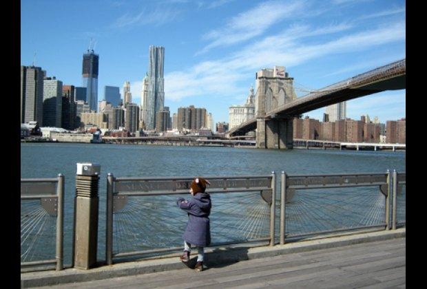 Dumbo offers lovely views of lower Manhattan