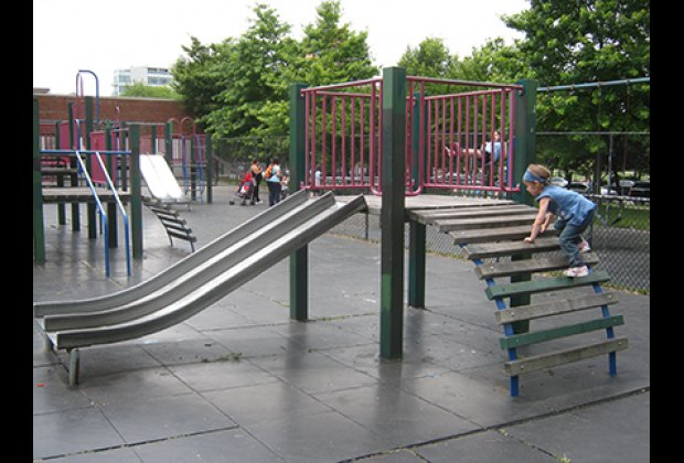 Playing in the Vincent V. Abate Playground