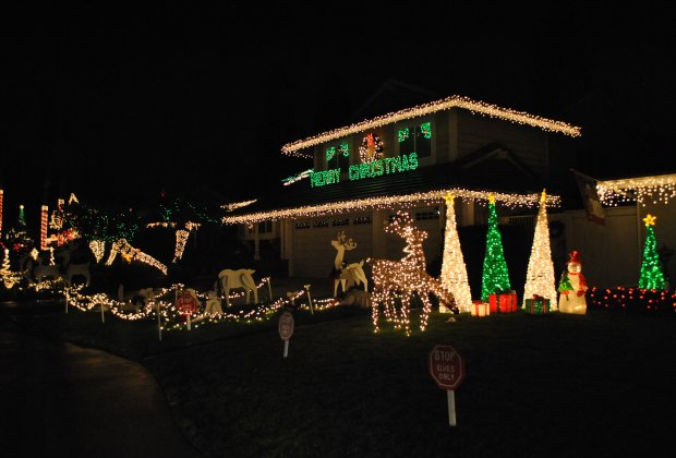Christmas Light Displays And Home Holiday Decorations Around