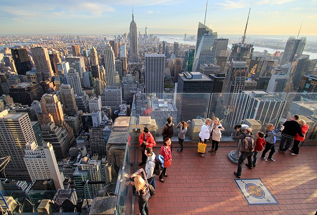 Top of the Rock offers panoramic city views