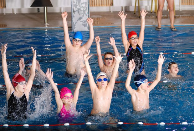 Students at Aquatic Consultants of Georgia can advance to the school's swim team.