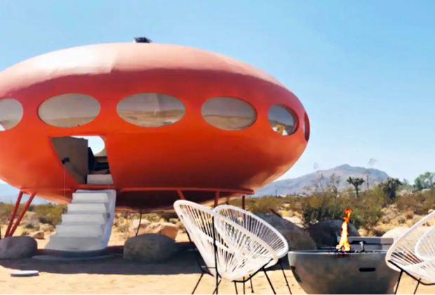 California Vacation Home Rentals for Families: Sleep in a spaceship!