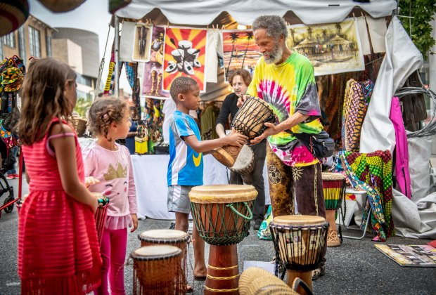 Soak up the family-friendly fun at Baltimore's Artscape. Photo by Edwin Remsberg, courtesy of the Baltimore Office of Promotion & The Arts