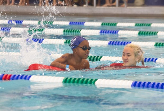 Asphalt Green has a pair of campuses with beautiful indoor pools.