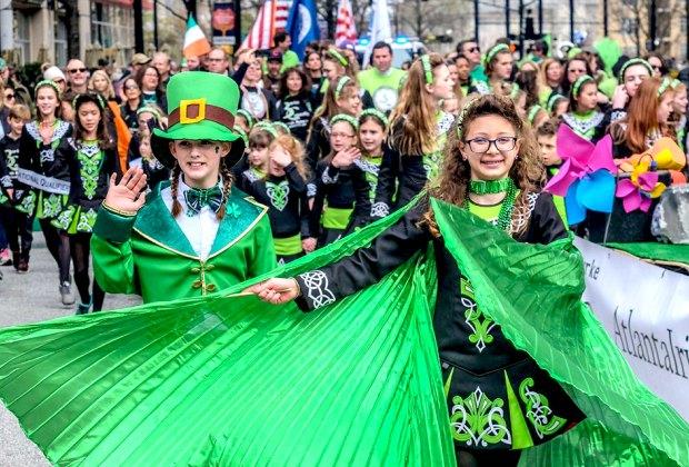 Celebrate Irish culture at Atlanta's St. Patrick's Day Parade. Photo courtesy of Atlanta Irish Dance