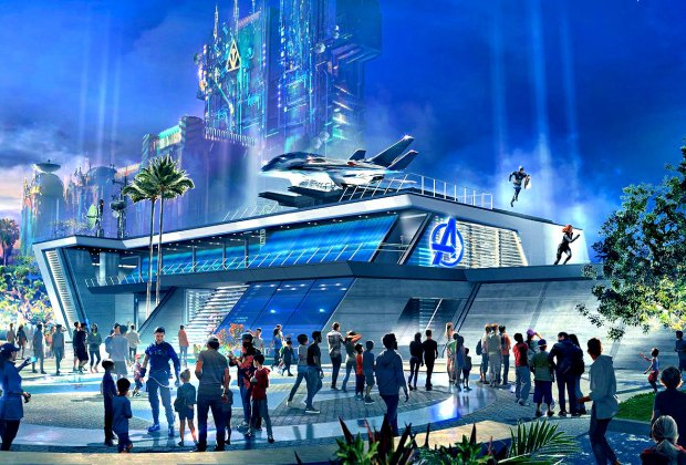Woah, the future looks pretty amazing at the new Avengers Campus.