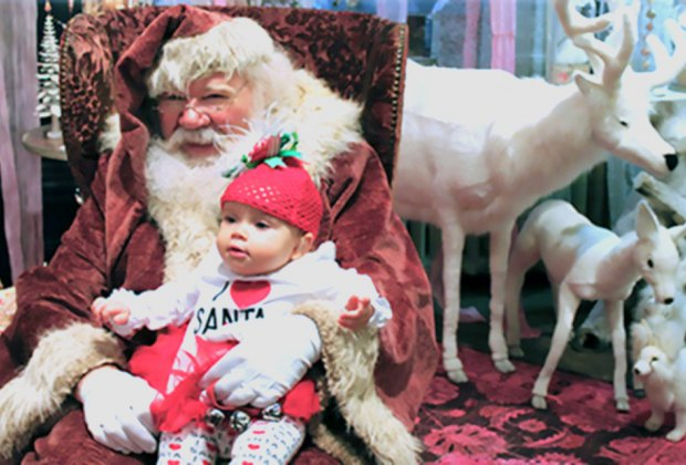 The magic of the season twinkles with Santa's smile at ABC Carpet and Home. Photo courtesy of ABC