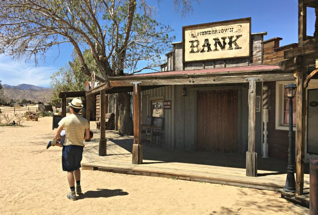 Old West meets old movies in this frontier town.