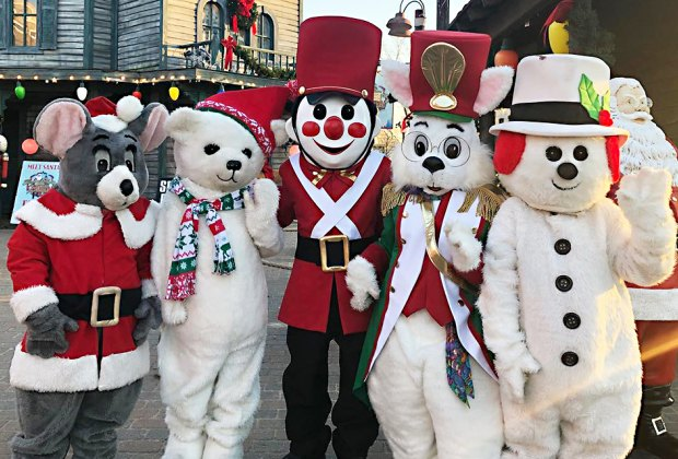 Bayville Winter Wonderland characters smile for the camera