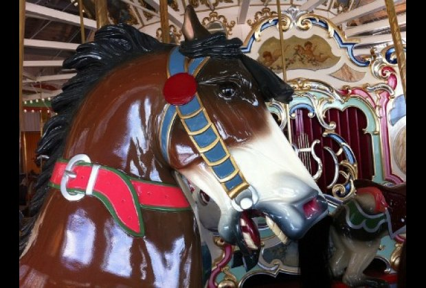 The horses have been meticulously restored