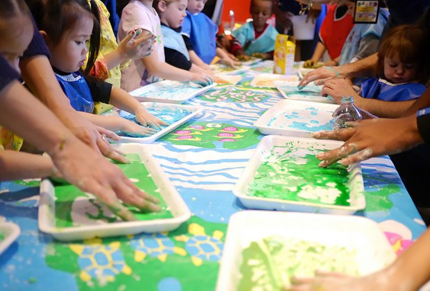 Make a (messy) mini masterpiece at the Tot Studio at the Brooklyn Children's Museum