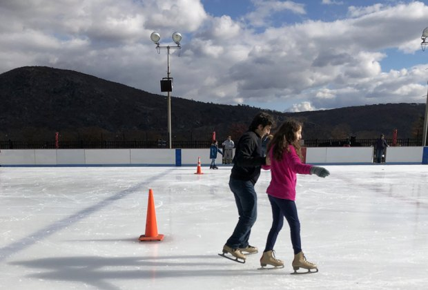 Bear Mountain State Park offers an ice skating rink and so much more