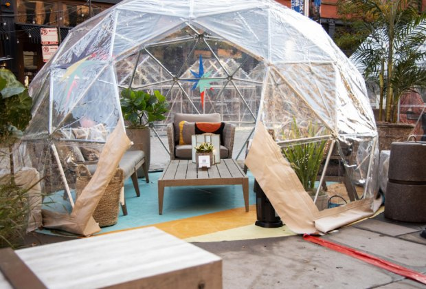 This welcoming and cozy igloo is at Beatrix.