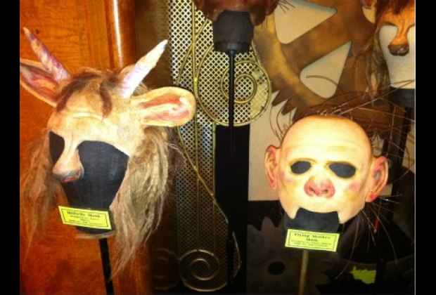 Masks for Dr. Dillamond and a flying monkey
