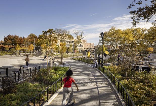 child running in Betsy head park