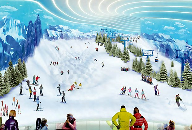 Ski on real snow at BIG SNOW, American Dream's indoor ski park. Photo courtesy of American Dream