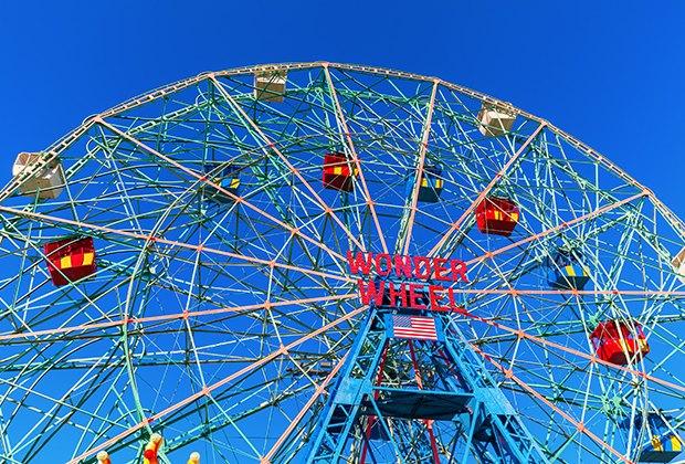 the wonder wheel at denos coney island