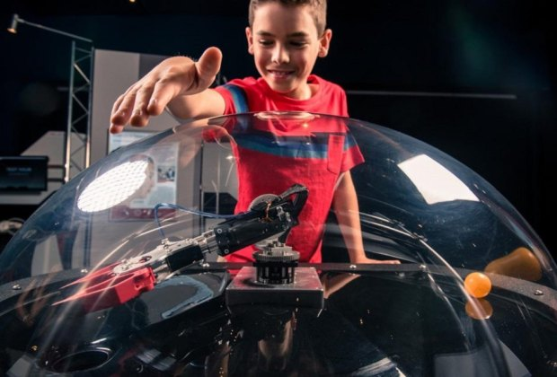 Learn how the human body and technology can work together at Space Center Houston's newest installment: Bionic Me. Photo courtesy of Space Center Houston.