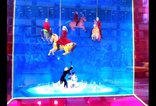 Bloomingdale's Cirque du Soleil-themed holiday windows