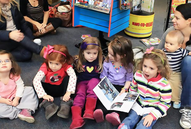 Kids can enjoy Toddler Time on Thursdays at Book Revue. Photo courtesy of Book Revue
