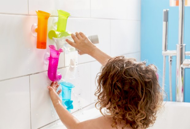Take water play to the next level with Boon Building Bath Pipes.