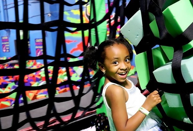 Bounce, climb, swing and play at Bounce! Trampoline Sports.