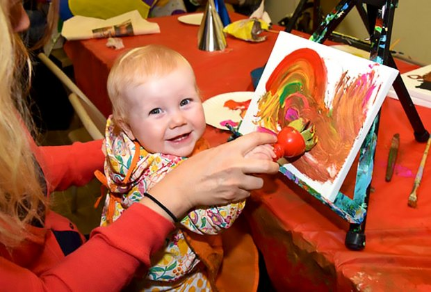 Toddlers Will Keep Busy Creating Art At A Birthday Party Fun Studio Photo Courtesy Of