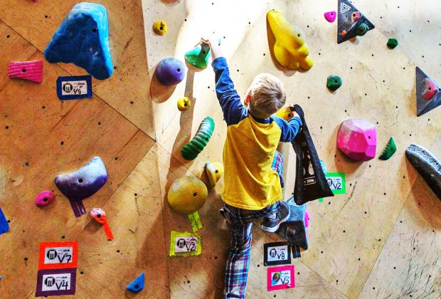 Get your climb on at Brooklyn Boulders Chicago. Photo courtesy of Brooklyn Boulders