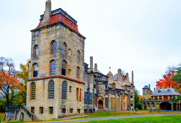 exterior shot of Fonthill Castle