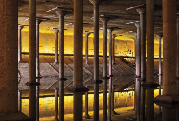 Inside the Buffalo Bayou Cistern. Photo courtesy Page Southerland Page
