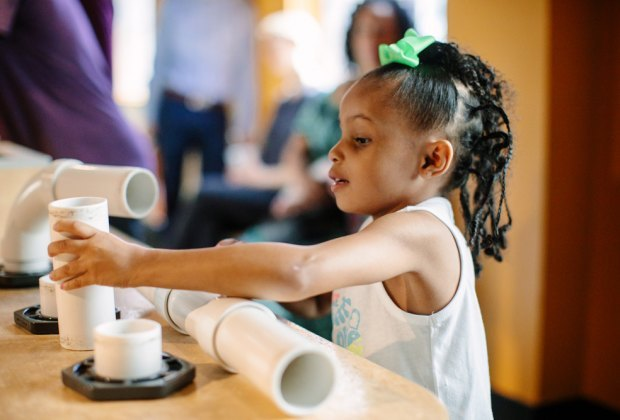 The Buffalo Museum of Science is full of hands-on opportunities to explore physics, motion, weather, and space. Photo courtesy of the museum