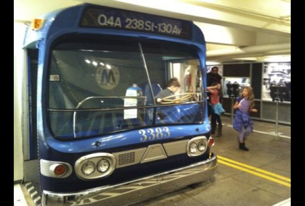 Pretending to drive a 1960s bus is another must-do